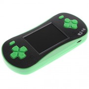 MagiDeal RS-16 2.5'' LCD Portable Handheld Video Game Console With 260 Classic Games Green for Children Green