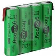 Goobay Batterie ricaricabili NiMH 4xAA HR6 2100 mAh 4.8V a saldare