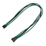 Cablu prelungitor Nanoxia 4-pini PWM, Single Sleeve, 30cm, Green