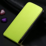 Green Leather Vertical Flip Case For Apple iPhone 5 / 5S / SE
