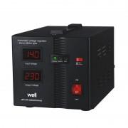 Stabilizator automat de tensiune Well, servo motor Secure, 1000 VA