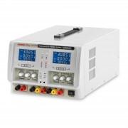 Fonte de alimentação de laboratório - 2 x 0-30V - 0-5A DC - 2 x LED