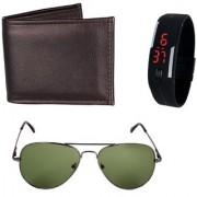 iLiv Green Aviator sunglass Black wallet and Led