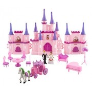 Toy Castle My Dream 'Princess Wedding' Toy Doll Playset w/ Prince and Princess Figures Horse Carriage