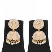 Jewels Gold Alloy Party Wear Fashion Designer Stylish Jhumki Earring Set For Women Girls