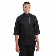 Chef Works Cool Vent Verona Womens Chefs Jacket Black S Size: S