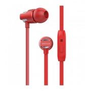 Astrum EB410 univerzális 3,5mm piros fémházas sztereó headset zajszűrős mikrofonnal, prémium hangzással, slim kábellel