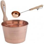 Set galeta si lingura de cupru pentru sauna