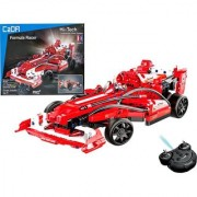Emob 317 Pcs Formula Racer Rechargeable Remote Control Block Construction Car Toy (Red)