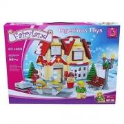 Ingenious Toys Ausini Winter Wonderland Shop & Motor Sledge City Creator New 591Pcs #24809