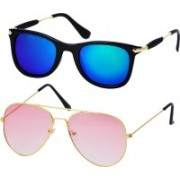 Freny Exim Aviator, Wayfarer Sunglasses(Blue, Pink)
