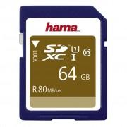 Hama sdxc 64 gb class 10, uhs-i 80 mb/s