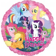 Balon folie Little Pony Happy Birthday 45 cm
