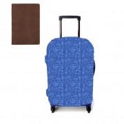 Set Traveller Husa troler si Husa pasaport piele vintage