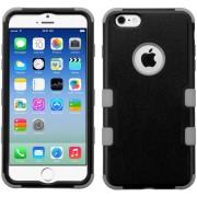 Funda Case para iPhone 6s / Iphone 6 Doble Protector de Uso Rudo-Negro con Gris
