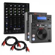 "Electronic-Star Elektronik Star DJ Set ""CD DJ Starter"" - mixer de 4 canales 2 x reproductor de CD 2 x cable RCA (PL-22870-28234)"