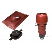 Vilpe 1003 ECO tetőventilátor szett páraelszívókhoz - vörös