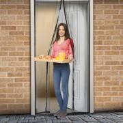 Plasă ţânţari pentru uşi - închidere magnetică, 100x210 cm