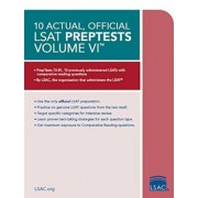 10 Actual, Official LSAT Preptests Volume VI, Paperback/Law School Council