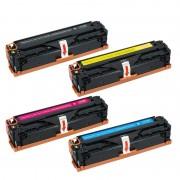 Zipzap CE320A/CB540A/CE210X/CE321A/CB541A/CE211A/CE322A/CB542A/CE212A/CE323A/CB543A/CE213A Pack 4 Tóners Compatibles HP