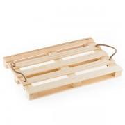 Plateau palette en bois avec poignées