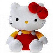 Pearl world Polyester Hello Kitty Soft Toy Character Specially for Kids (Red, 26cm)