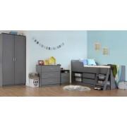 Felix Grey Low Sleeper Kids Wooden Bed with 3 Piece Bedroom Set