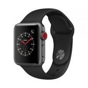 Apple Watch Series 3 38 mm GPS/Cellular Space Grey Alu, Black Sport band MQKG2FS/A