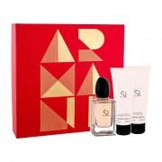 Giorgio Armani Sì confezione regalo Eau de Parfum 50 ml + lozione per il corpo 75 ml + doccia gel 75 ml da donna