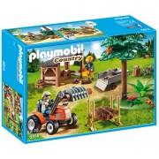 Depozit de Cherestea cu Tractor Playmobil