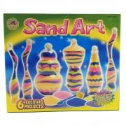 Joc cu nisip colorat - Arta nisipului