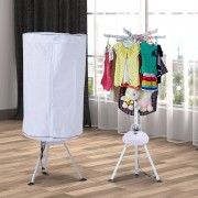 HOMCOM Portable Hot Air Electric Clothes Dryer, 900W-White