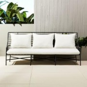 Breton Black Metal Sofa by CB2