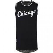New Era Camiseta Regata New Era Chicago White Sox Dupla Face - Masculina - PRETO/VERDE