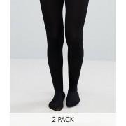 ASOS DESIGN - 2-pack tights i 80 denier - Svart