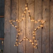 LED metal star with timer, copper