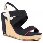 Сандали TOMMY HILFIGER - Th Basic Hardware High Wedge FW0FW04946 Desert Sky DW5