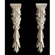 30x6.5cm European style furniture stigma Rome column carved wood decoration
