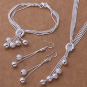 Set bijuterii argint colier, bratara si cercei