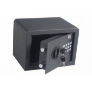 Seif electronic si cheie 170x230x170mm negru Planet Safe 17AT