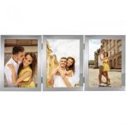 Рамка за снимки HAMA Laval, 3 x 13х18 см, със стъкло, сребрист