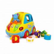 Masinuta cu forme, sunete si lumini pentru bebelusi - Hola Toys