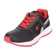 Sparx Men's Black & Red Mesh Running Shoes - 8 UK