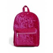 Forever21 Crushed Velvet Backpack Pink