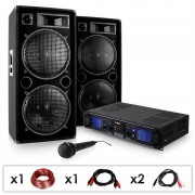 "Electronic-Star Equipo DJ PA ""DJ-27"" Amplificador PA Altavoces 2000W USB SD MP3 (PL-3883-0211)"