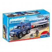 Playmobil Camião da Polícia com Lancha