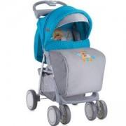 Детска количка с покривало Foxy - Blue Grey Hello Bear, Lorelli, 0740177