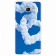 Husa silicon pentru Samsung Galaxy J5 2016 Heart Shaped Clouds Blue Sky