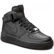 Обувки NIKE - Air Force 1 Mid (GS) 314195 004 Black/Black