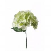 Geen Wit/groene Hydrangea kunstbloem op steel 28 cm
